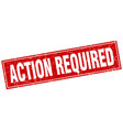action required square stamp vector image