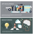 App development and brainstorming vector image vector image