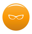 astigmatic eyeglasses icon orange vector image