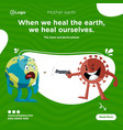 banner design mother earth vector image