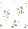 beautiful seamless floral pattern with watercolor vector image vector image