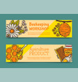 beekeeping set banners apiary vector image vector image