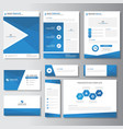 Blue Business presentation templates Infographic vector image vector image