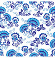 blue floral ornament vector image vector image