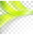 Bright green soft abstract transparent waves vector image vector image