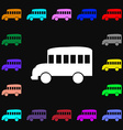 Bus icon sign Lots of colorful symbols for your vector image