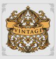 calligraphy decorative vintage ornaments vector image vector image