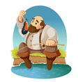 Cartoon fisher vector image vector image