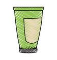 color crayon stripe cartoon tube cream container vector image vector image