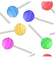 colored lollipop candies as seamless pattern vector image