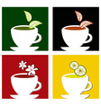 colorful square tea labels composition vector image vector image