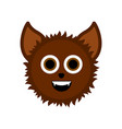 cute halloween werewolf cartoon character vector image