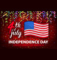 day of independence of usa poster 4th vector image vector image