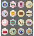 delivery flat icons 19 vector image vector image