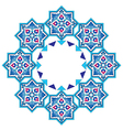 designed with shades of blue ottoman pattern vector image vector image
