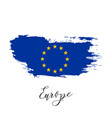 european union watercolor country flag icon vector image