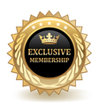Exclusive Membership Badge vector image vector image