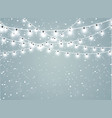 falling snow on a transparent sparkle background vector image vector image