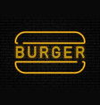 fast food neon vector image vector image