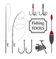 Fishing tools vector image vector image
