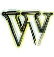 font letter w vector image vector image