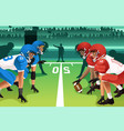 football players in a match vector image
