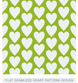 Green heart seamless background flat pattern vector image vector image