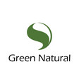 green natural logo vector image vector image