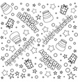 Happy Birthday Pattern Lineart vector image