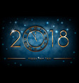 happy new 2018 year on blue shiny vector image vector image