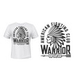 indian warrior fighting club t-shirt print vector image