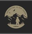 journey into wild badge t-shirt design vector image