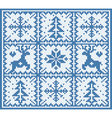 Knitting winter pattern vector image