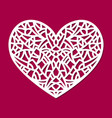 laser cut heart ornament cutout pattern vector image vector image