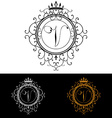 Letter V Luxury Logo template flourishes vector image