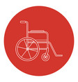 line art style wheelchair icon vector image