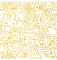 Line Gold White Party Tile Pattern vector image vector image