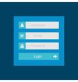 Login interface - username and password flat desi vector image
