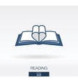 Love readinng concept icon logo vector image