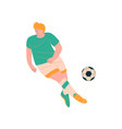 male soccer player playing with ball footballer vector image vector image