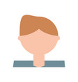 man cartoon profile vector image vector image