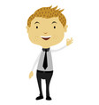 man doing the ok sign vector image vector image
