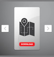 map camping plan track location glyph icon in vector image