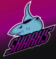 Modern professional sharks logo for a club vector image vector image