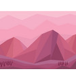mountain lanscape low poly vector image vector image