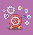 online marketing design vector image vector image