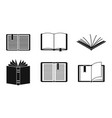 open book icon set simple style vector image vector image