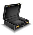 Open briefcase vector image