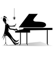 Pianist original silhouette vector image vector image