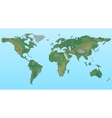 pixel physical map world vector image
